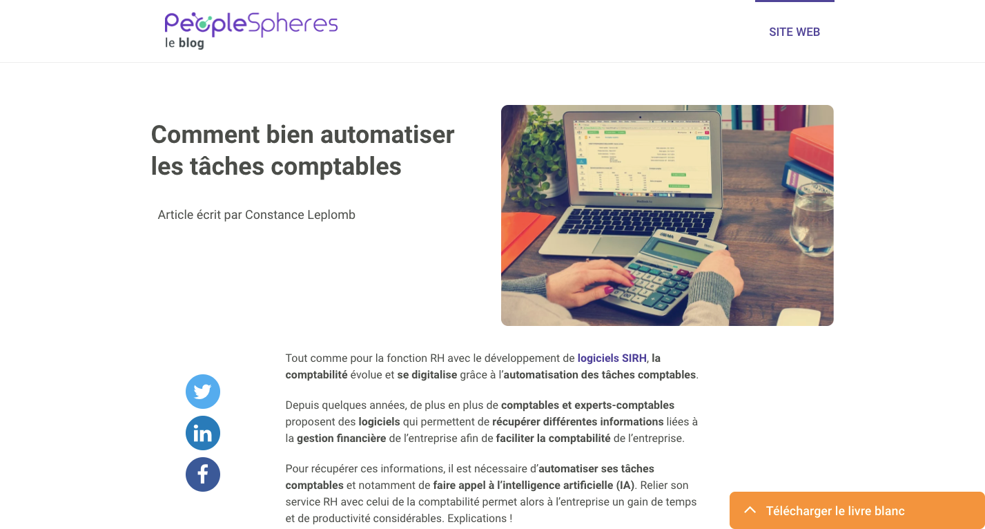 Constance Leplomb - Agence Web Brest - PeopleSheres - Rédaction